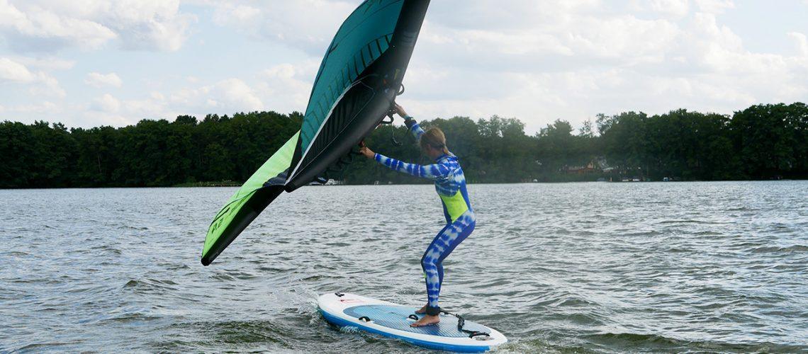 Wing-Surfen in Berlin